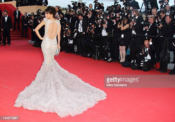 Eva Longoria arrives at the Opening Ceremony and 'Moonrise Kingdom' Premiere part of the 65th Annual Cannes Film Festival at Palais des Festivals on...