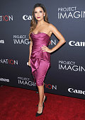 Eva Longoria attends Canon's 'Project Imaginat10n' Film Festival opening night at Alice Tully Hall at Lincoln Center on October 24 2013 in New York...