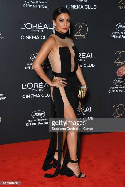 Eva Longoria attends Gala 20th Birthday of L'Oreal In Cannes during the 70th annual Cannes Film Festival at Martinez Hotel on May 24 2017 in Cannes...