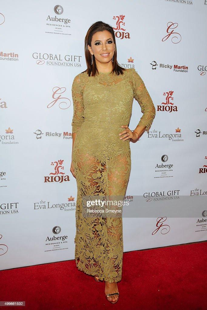 Eva Longoria attends Global Gift Foundation Dinner at Auberge Residences Spa sales office on December 3 2015 in Miami Florida