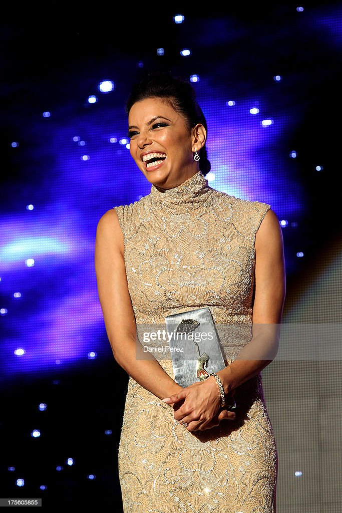 <a gi-track='captionPersonalityLinkClicked' href=/galleries/search?phrase=Eva+Longoria&family=editorial&specificpeople=202082 ng-click='$event.stopPropagation()'>Eva Longoria</a> attends Global Gift Gala 2013 dinner and gala at Gran Melia Don Pepe Resort on August 4, 2013 in Marbella, Spain.