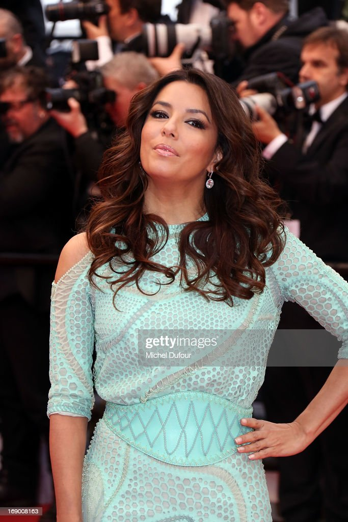 <a gi-track='captionPersonalityLinkClicked' href=/galleries/search?phrase=Eva+Longoria&family=editorial&specificpeople=202082 ng-click='$event.stopPropagation()'>Eva Longoria</a> attends 'Jimmy P. (Psychotherapy Of A Plains Indian)' Premiere during the 66th Annual Cannes Film Festival at Grand Theatre Lumiere on May 18, 2013 in Cannes, France.