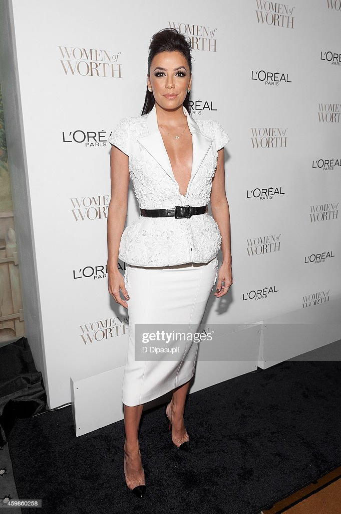 Eva Longoria attends L'Oreal Paris' Ninth Annual Women of Worth Awards at The Pierre Hotel on December 2 2014 in New York City