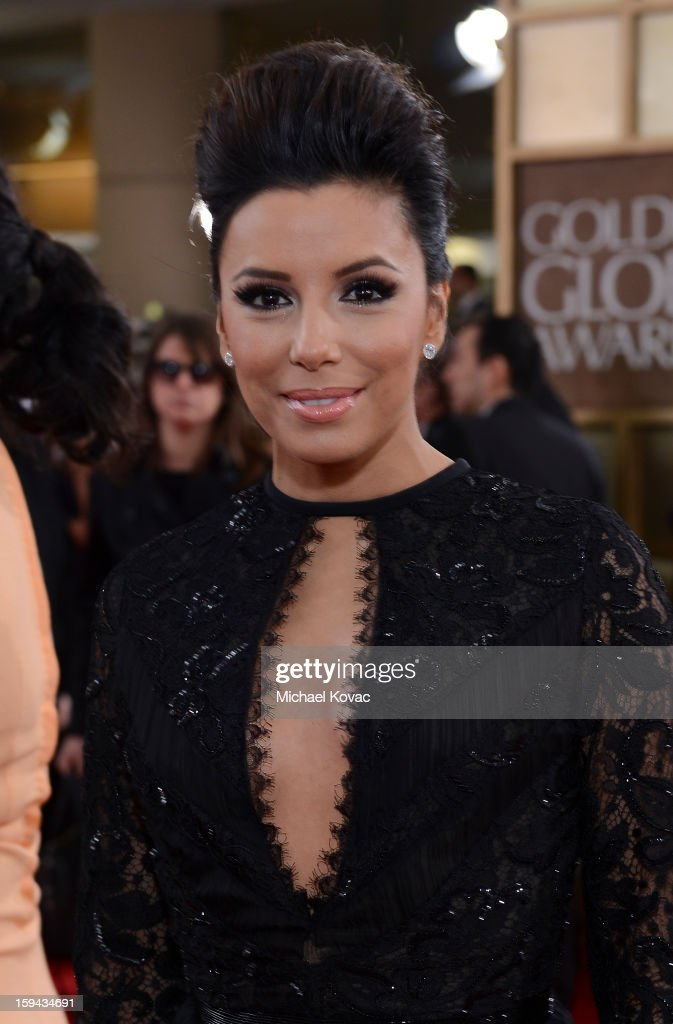 Eva Longoria attends Moet & Chandon At The 70th Annual Golden Globe Awards Red Carpet at The Beverly Hilton Hotel on January 13, 2013 in Beverly Hills, California.