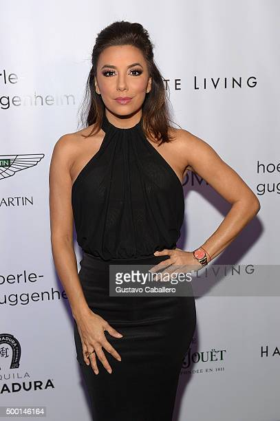 Eva Longoria attends SHOPcom celebration of art with Phillipe HoerleGuggenheim presenting RETNA hosted by JR Loren Ridinger Aston Martin Haute Living...
