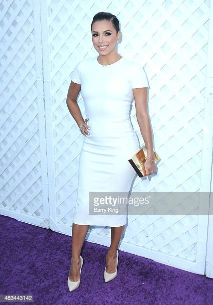 Eva Longoria attends the 17th Annual DesignCare Gala at The Lot Studios on August 8 2015 in Los Angeles California