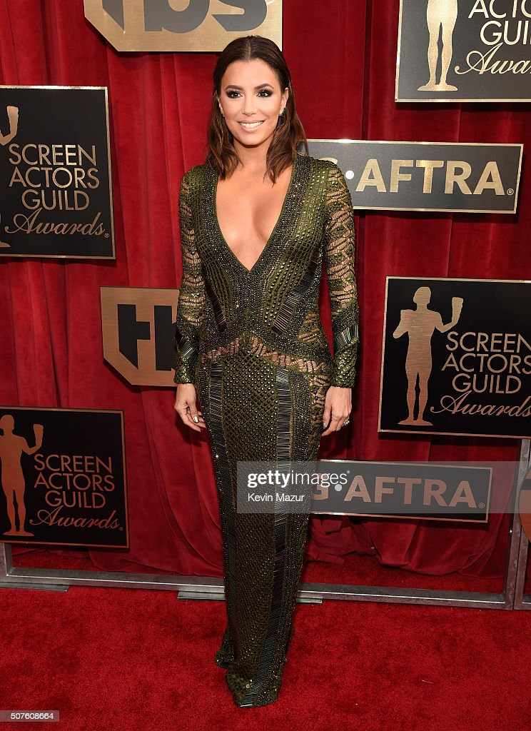 <a gi-track='captionPersonalityLinkClicked' href=/galleries/search?phrase=Eva+Longoria&family=editorial&specificpeople=202082 ng-click='$event.stopPropagation()'>Eva Longoria</a> attends The 22nd Annual Screen Actors Guild Awards at The Shrine Auditorium on January 30, 2016 in Los Angeles, California. 25650_012