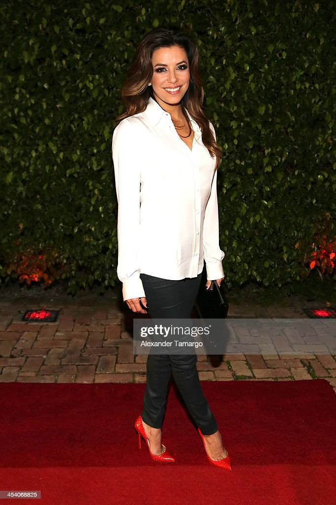 Eva Longoria attends The Art of Fusion on Star Island at Miami Beach on December 6 2013 in Miami Florida