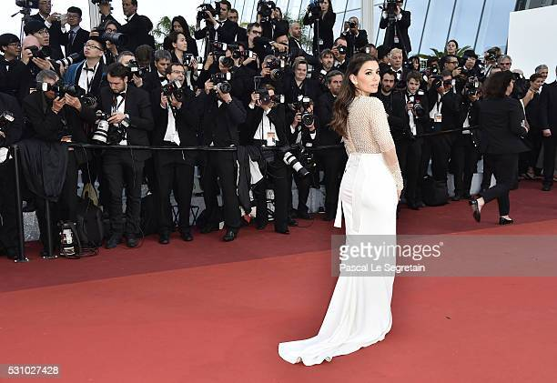 Eva Longoria attends the 'Cafe Society' premiere and the Opening Night Gala during the 69th annual Cannes Film Festival at the Palais des Festivals...
