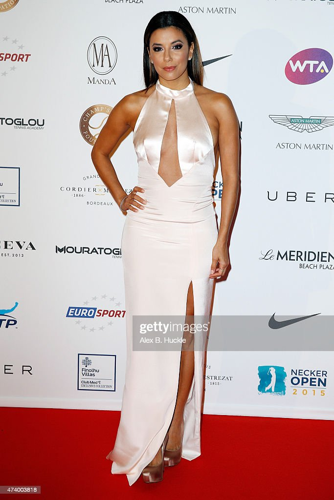 Eva Longoria attends the Champ'Seed party on May 19 2015 in Monaco Monaco