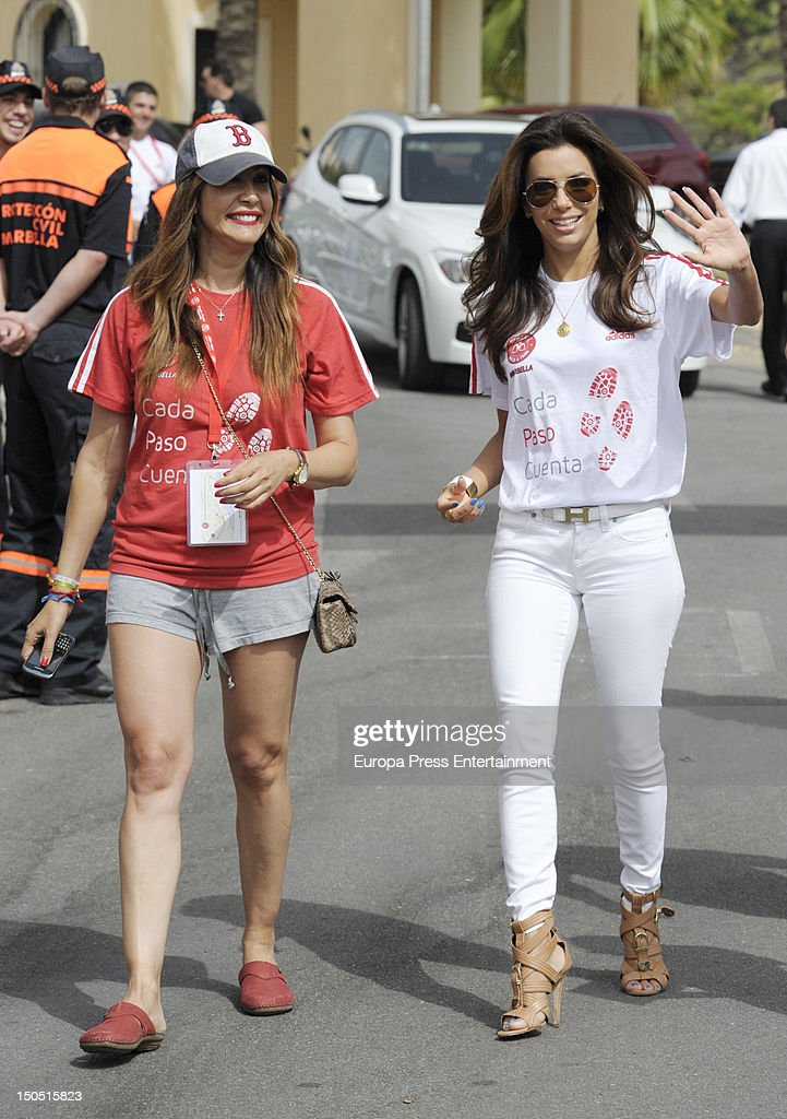 Eva Longoria attends the Dynamic WalkaThon a charity long walk through the city of Marbella to raise benefits for Cesare Scariolo Foundation and Eva...