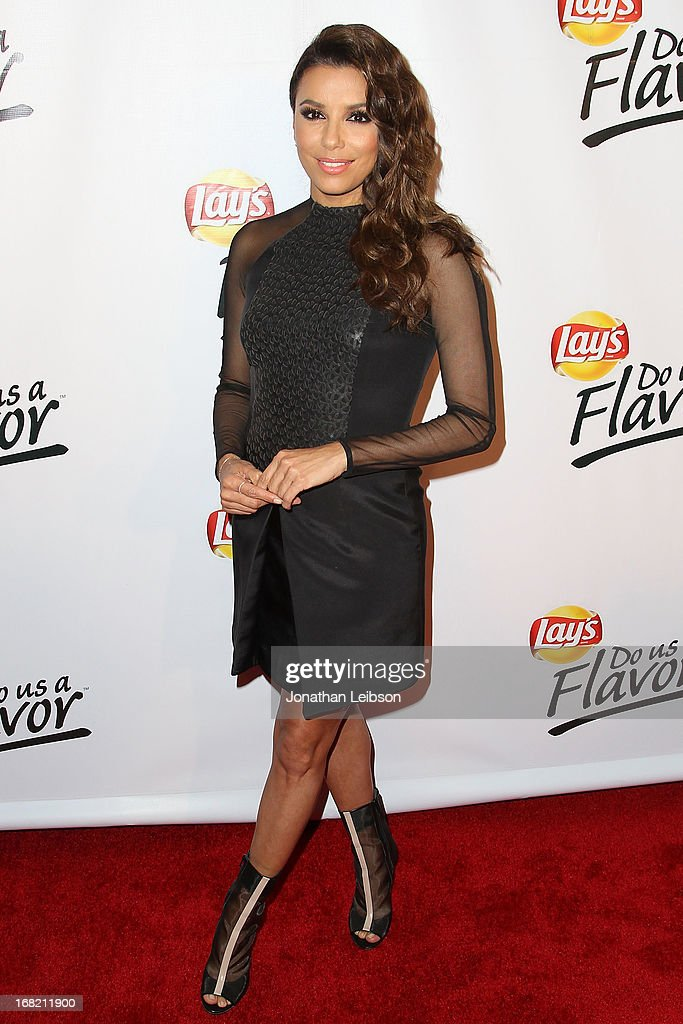 Eva Longoria attends the Eva Longoria announces contest winner for 'Lay's 'Do Us A Flavor' Contest at Beso on May 6, 2013 in Hollywood, California.
