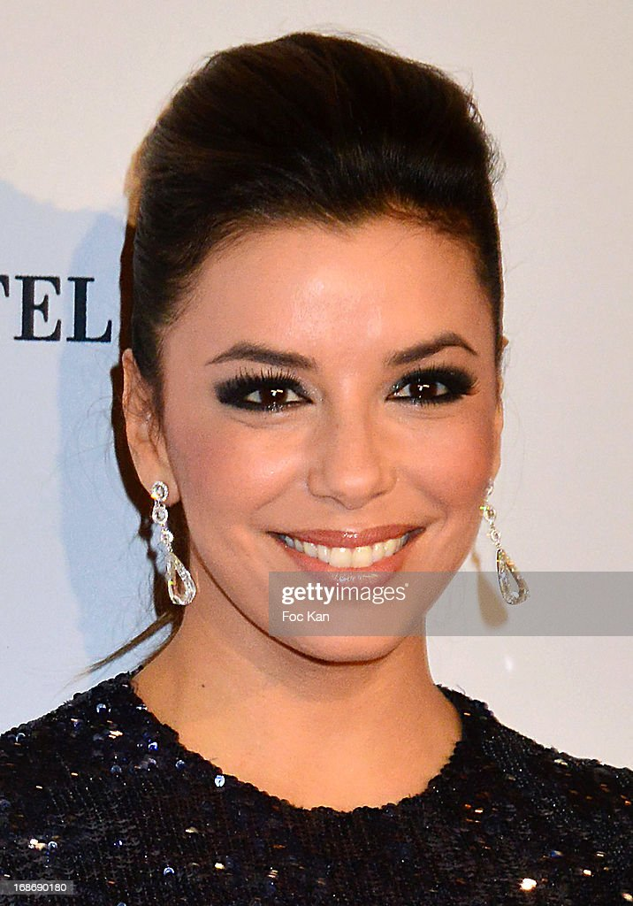 Eva Longoria attends the Eva Longoria Presents 'Global Gift Gala' 2013 - Photocall at the Hotel Four Season GeorgesV on May 13, 2013 in Paris, France.