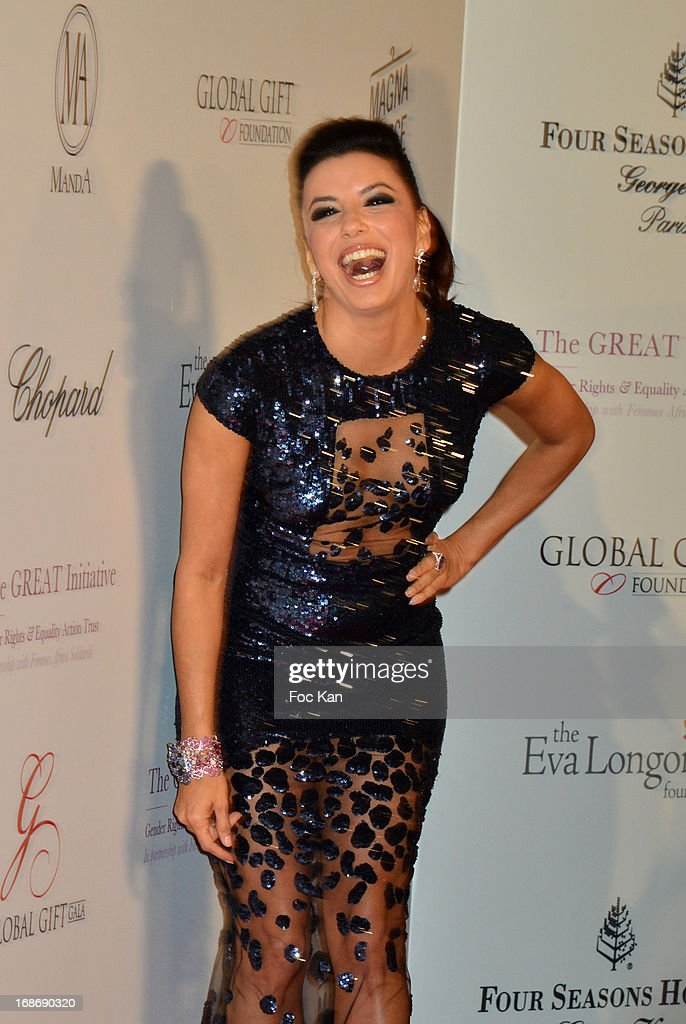<a gi-track='captionPersonalityLinkClicked' href=/galleries/search?phrase=Eva+Longoria&family=editorial&specificpeople=202082 ng-click='$event.stopPropagation()'>Eva Longoria</a> attends the <a gi-track='captionPersonalityLinkClicked' href=/galleries/search?phrase=Eva+Longoria&family=editorial&specificpeople=202082 ng-click='$event.stopPropagation()'>Eva Longoria</a> Presents 'Global Gift Gala' 2013 - Photocall at the Hotel Four Season GeorgesV on May 13, 2013 in Paris, France.