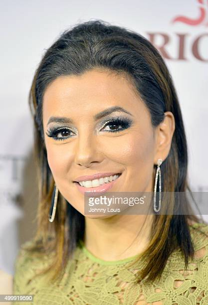 Eva Longoria attends the Global Gift Foundation Dinner at Auberge Residences Spa sales office on December 3 2015 in Miami Florida
