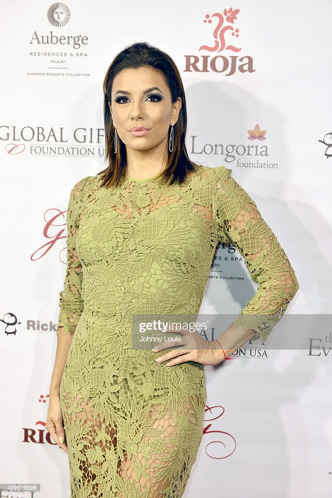 Eva Longoria attends the Global Gift Foundation Dinner at Auberge Residences & Spa sales office on December 3, 2015 in Miami, Florida.