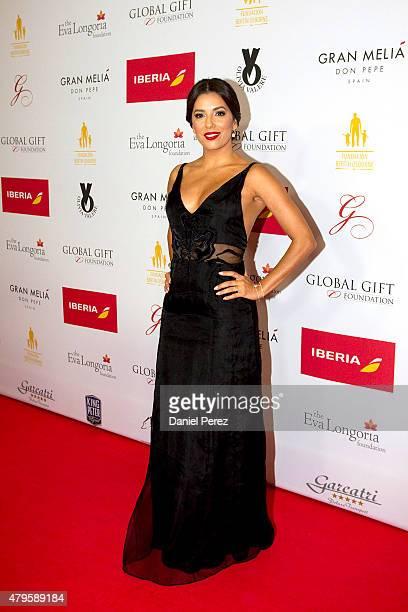 Eva Longoria attends the Global Gift Gala 2015 red carpet at Gran Melia Don pepe Resort on July 5 2015 in Marbella Spain