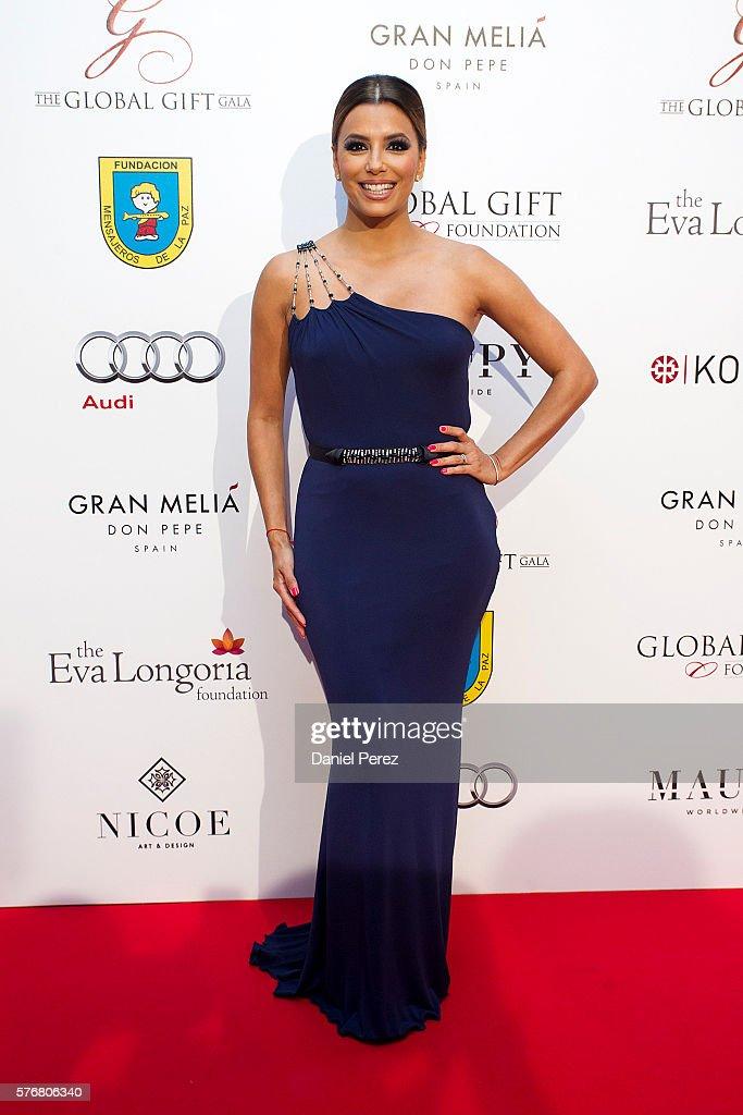 Eva Longoria attends the Global Gift Gala 2016 red carpet at Gran Melia Don pepe Resort on July 17 2016 in Marbella Spain