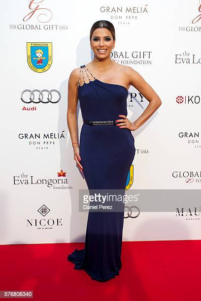 Eva Longoria attends the Global Gift Gala 2016 red carpet at Gran Melia Don pepe Resort on July 17 2016 in Marbella Spain