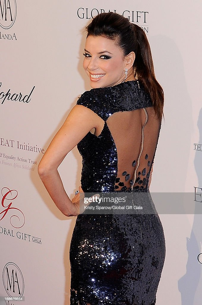 Eva Longoria attends the 'Global Gift Gala' at Hotel George V on May 13, 2013 in Paris, France.