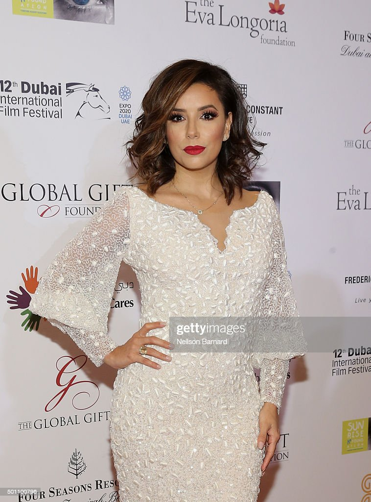 <a gi-track='captionPersonalityLinkClicked' href=/galleries/search?phrase=Eva+Longoria&family=editorial&specificpeople=202082 ng-click='$event.stopPropagation()'>Eva Longoria</a> attends the Global Gift Gala during day four of the 12th annual Dubai International Film Festival held at the Four Seasons Hotel on December 12, 2015 in Dubai, United Arab Emirates.
