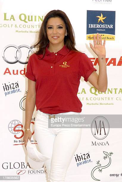 Eva Longoria attends the Global Gift Gala Golf Tournament on August 3 2013 in Marbella Spain