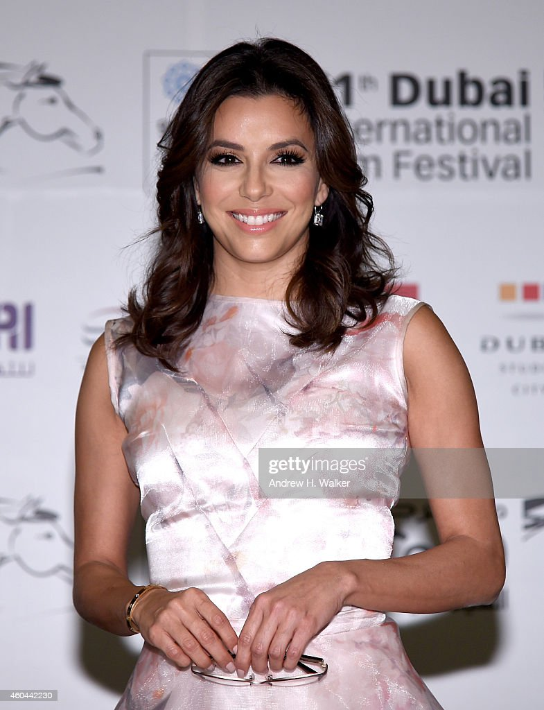 Eva Longoria attends the Global Gift Gala press conference during day five of the 11th Annual Dubai International Film Festival held at the Madinat Jumeriah Complex on December 14, 2014 in Dubai, United Arab Emirates.