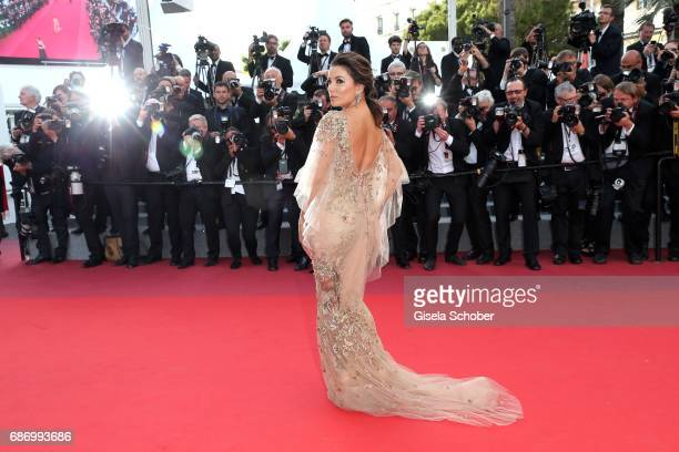 Eva Longoria attends 'The Killing Of A Sacred Deer' premiere during the 70th annual Cannes Film Festival at Palais des Festivals on May 22 2017 in...