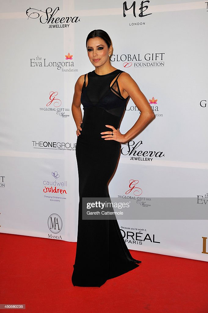 Eva Longoria attends the London Global Gift Gala at ME Hotel on November 19, 2013 in London, England.