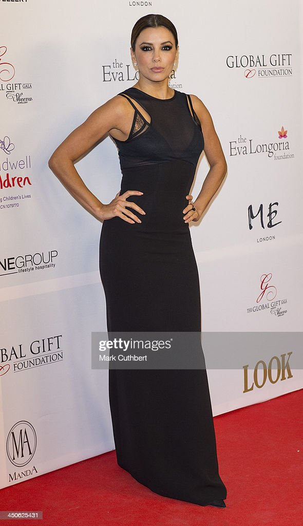 <a gi-track='captionPersonalityLinkClicked' href=/galleries/search?phrase=Eva+Longoria&family=editorial&specificpeople=202082 ng-click='$event.stopPropagation()'>Eva Longoria</a> attends the London Global Gift Gala at ME Hotel on November 19, 2013 in London, England.