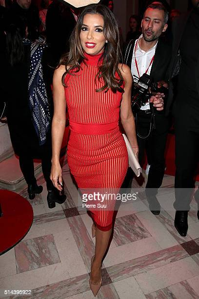 Eva Longoria attends the L'Oreal Red Obsession Party Photocall as part of the Paris Fashion Week Womenswear Fall/Winter 2016/2017 on March 8 2016 in...