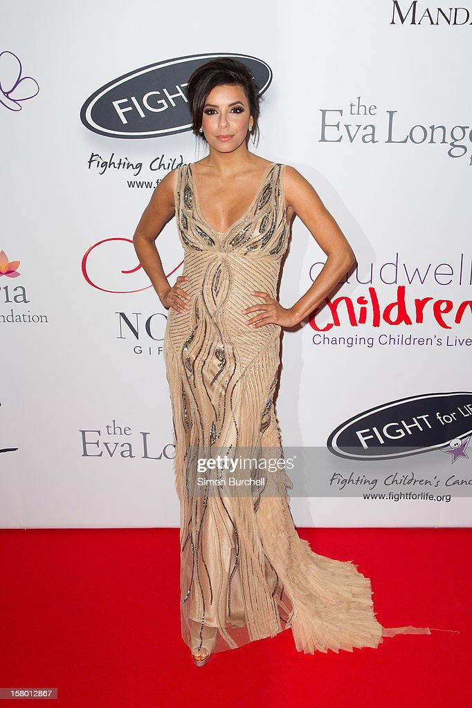 Eva Longoria attends the Noble Gift Gala at The Dorchester on December 8, 2012 in London, England.