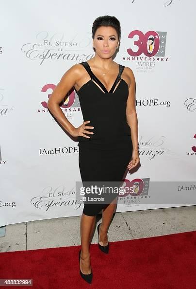 Eva Longoria attends the Padres Contra El Cancer's 15th Annual 'El Seuno De Esperanza' held at Boulevard3 on September 17 2015 in Hollywood California