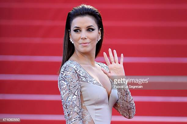Eva Longoria attends the Premiere of 'Inside Out' during the 68th annual Cannes Film Festival on May 18 2015 in Cannes France