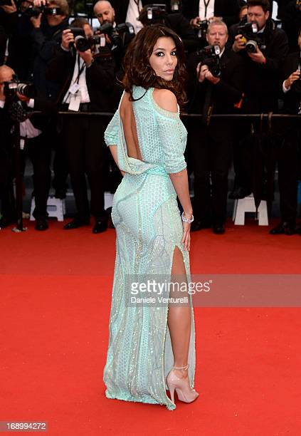 Eva Longoria attends the Premiere of 'Jimmy P ' at Palais des Festivals during The 66th Annual Cannes Film Festival on May 18 2013 in Cannes France