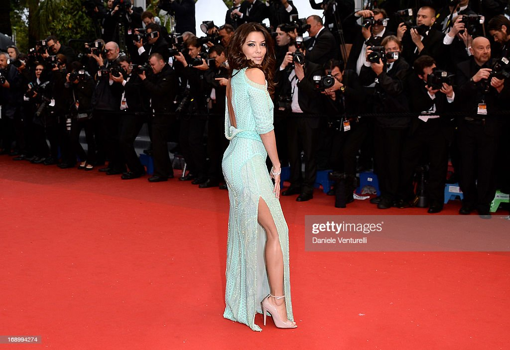 Eva Longoria attends the Premiere of 'Jimmy P. (Psychotherapy Of A Plains Indian)' at Palais des Festivals during The 66th Annual Cannes Film Festival on May 18, 2013 in Cannes, France.
