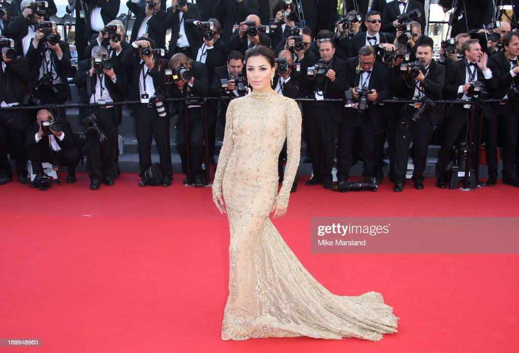 <a gi-track='captionPersonalityLinkClicked' href=/galleries/search?phrase=Eva+Longoria&family=editorial&specificpeople=202082 ng-click='$event.stopPropagation()'>Eva Longoria</a> attends the Premiere of 'Le Passe' (The Past) at The 66th Annual Cannes Film Festival on May 17, 2013 in Cannes, France.