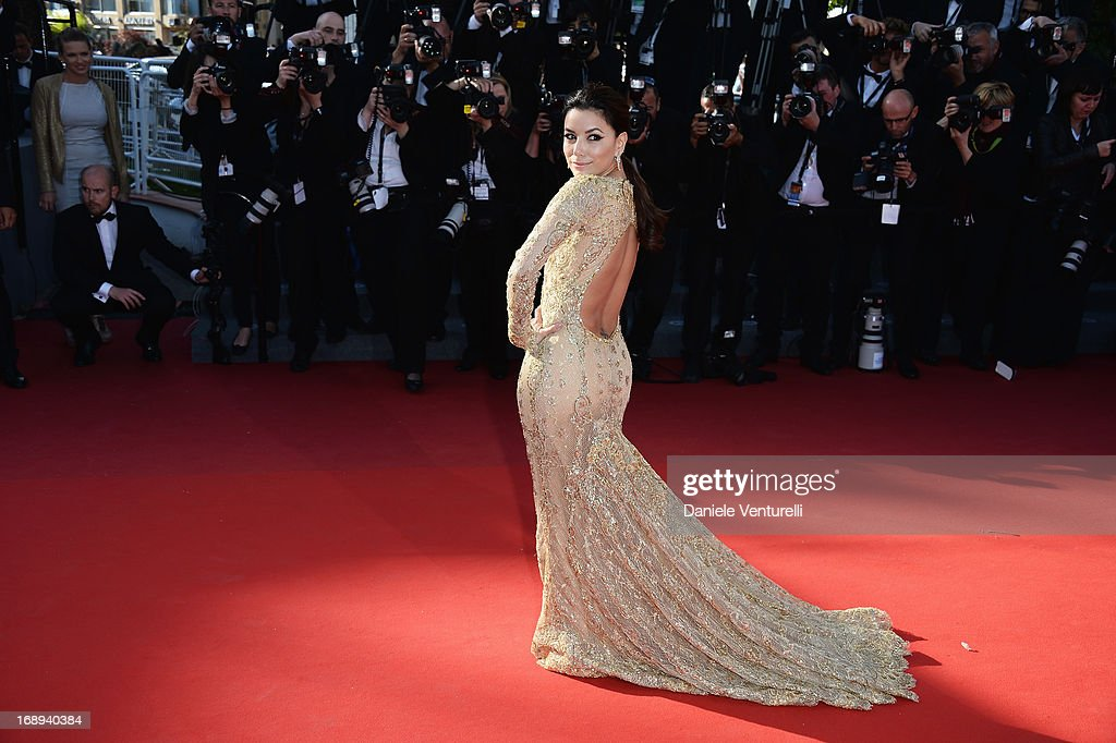 Eva Longoria attends the Premiere of 'Le Passe' (The Past) during The 66th Annual Cannes Film Festival at Palais des Festivals on May 17, 2013 in Cannes, France.