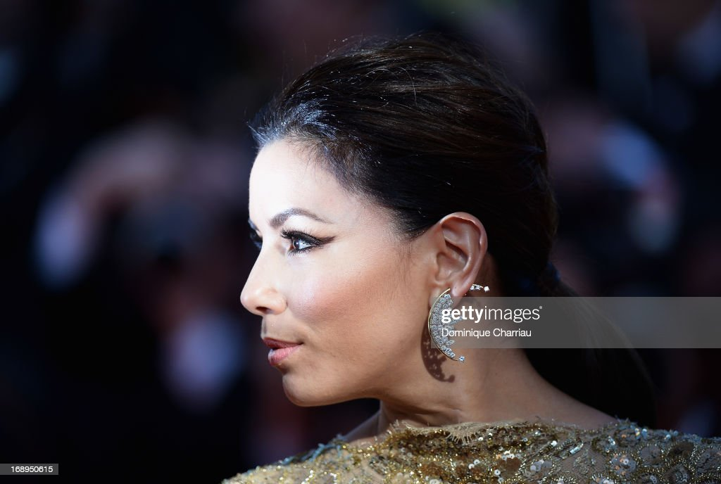 <a gi-track='captionPersonalityLinkClicked' href=/galleries/search?phrase=Eva+Longoria&family=editorial&specificpeople=202082 ng-click='$event.stopPropagation()'>Eva Longoria</a> attends the Premiere of 'Le Passe' (The Past) during The 66th Annual Cannes Film Festival at Palais des Festivals on May 17, 2013 in Cannes, France.
