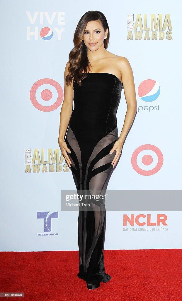Eva Longoria attends the press room at the NCLR 2012 ALMA Awards held at Pasadena Civic Auditorium on September 16, 2012 in Pasadena, California.