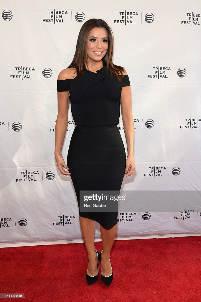 Eva Longoria attends the Tribeca Talks/ESPN Sports Film Festival¡Go Sebastien Go during the 2015 Tribeca Film Festival at SVA Theater on April 25...