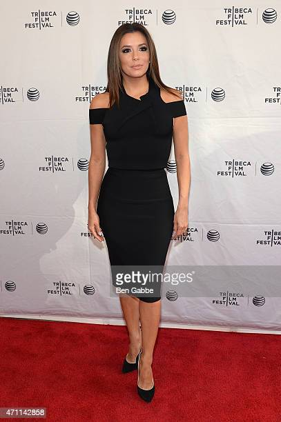 Eva Longoria attends the Tribeca Talks/ESPN Sports Film Festival¡Go Sebastien Go during the 2015 Tribeca Film Festival at SVA Theater on April 25...