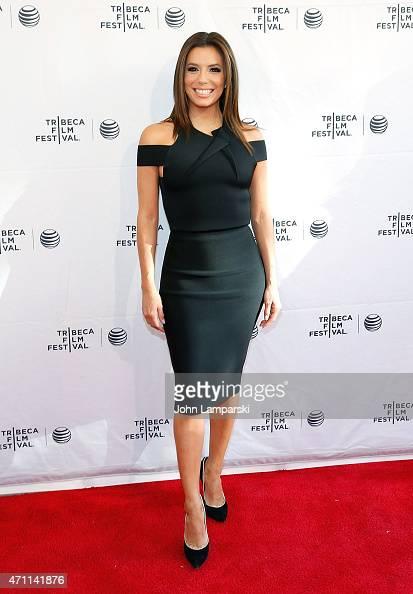 Eva Longoria attends Tribeca Talks/ESPN Sports Film Festival ¡Go Sebastien Go during the 2015 Tribeca Film Festival at SVA Theater 1 on April 25 2015...