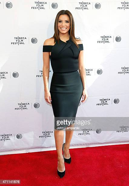 Eva Longoria attends Tribeca Talks/ESPN Sports Film Festival ¡Go Sebastien Go during the 2015 Tribeca Film Festival at SVA Theater 1 on April 25 2015...