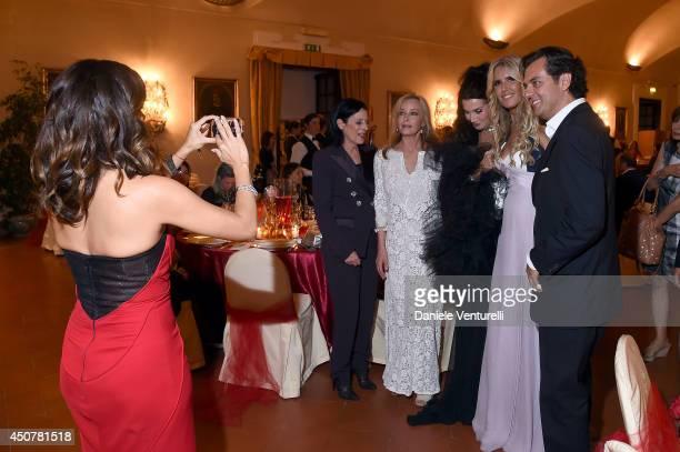 Eva Longoria Debra Mace Bo Derek Lamia Khashoggi Tiziana Rocca and Michel Curatolo attend the Eva Longoria Foundation Dinner Gala during the 60th...