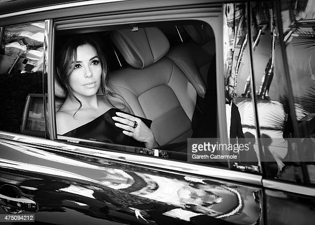 Eva Longoria departs the Martinez Hotel during the 68th annual Cannes Film Festival on May 17 2015 in Cannes France