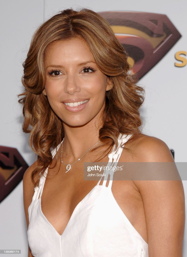 Eva Longoria during 'Superman Returns' World Premiere Sponsored By Belstaff at Mann Village and Bruin Theaters in Westwood California United States