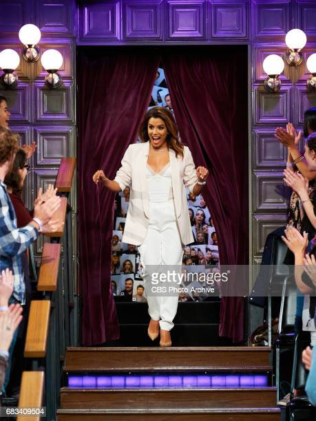 Eva Longoria greets the audience during 'The Late Late Show with James Corden' Tuesday May 9 2017 On The CBS Television Network