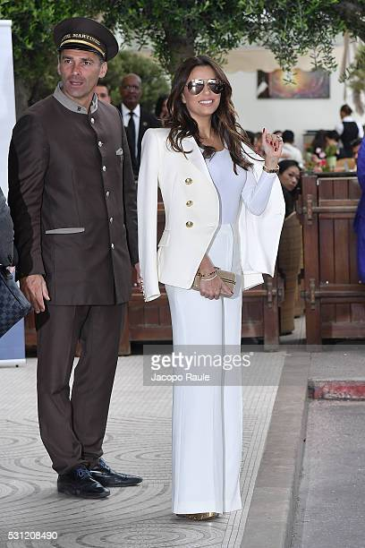 Eva Longoria is seen at Hotel Martinez during the annual 69th Cannes Film Festival at on May 13 2016 in Cannes France
