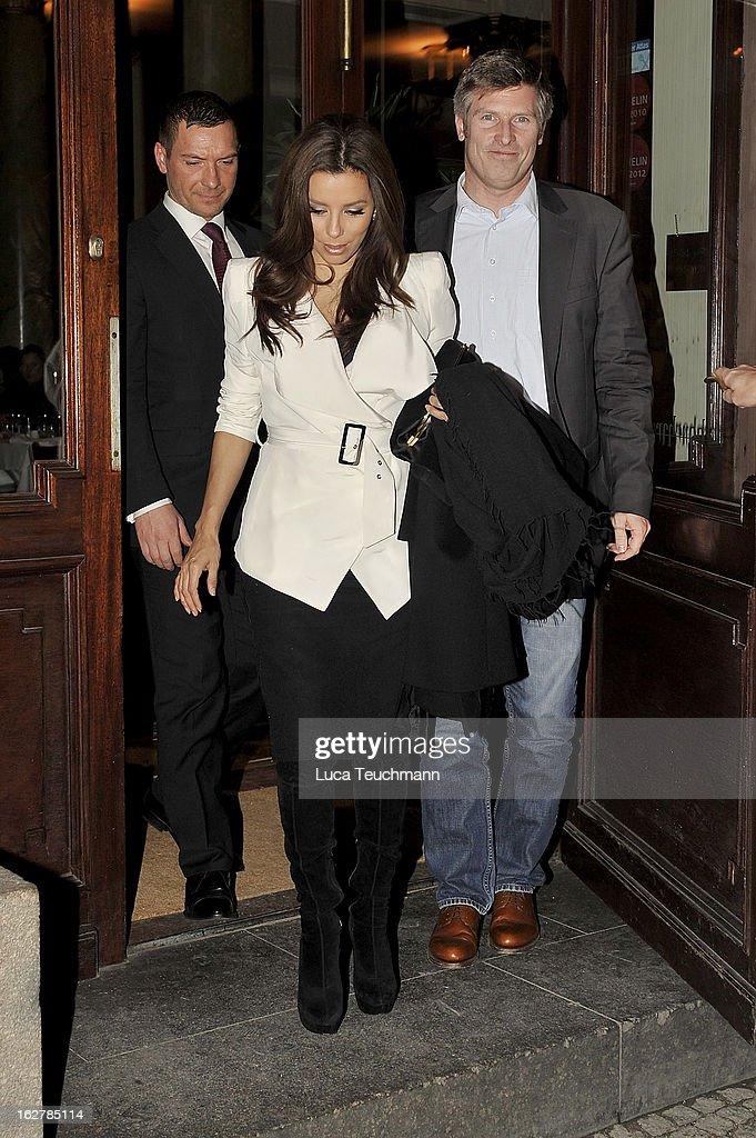 Eva Longoria is seen in Berlin on February 26, 2013 in Berlin, Germany.